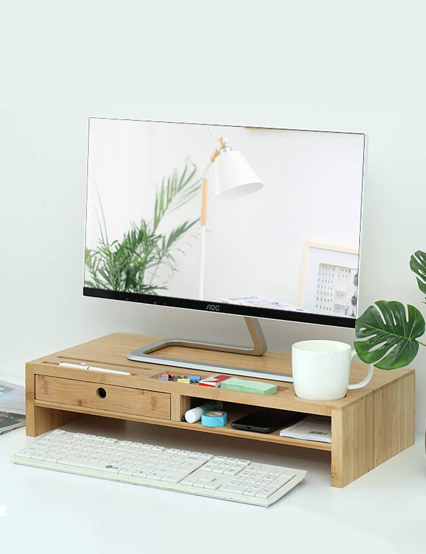 ディスプレイスタンドデスクトップ引き上げプルアウトストレージドロワー - コンピュータ、ラップトップ、プリンターのための竹デスクトップリフター - ほとんどのコンピュータブランドに適しています (サイズ さいず : A drawer) A drawer  B07KSG924C