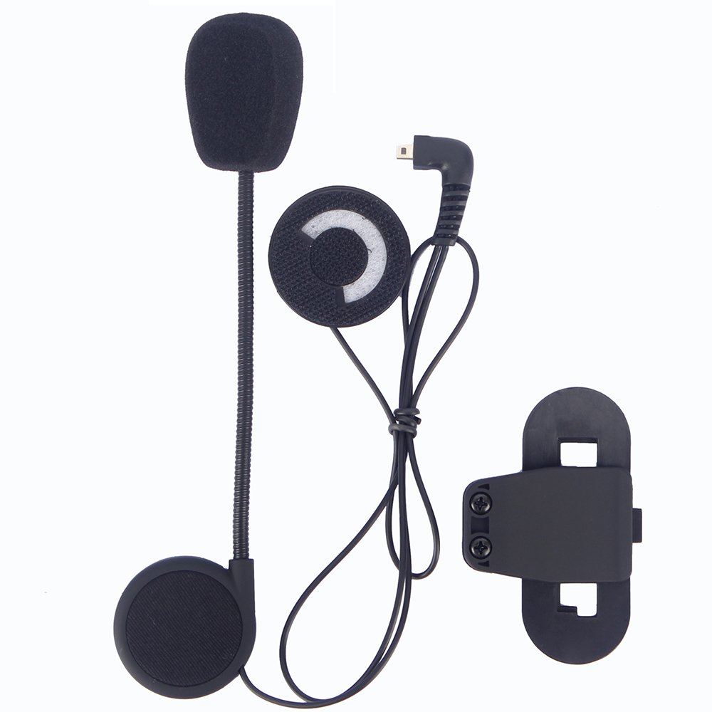 Motorcycle Helmet Speakers, FreedConn T-COMVB Series Headset and Clip Kits for Motorcycle Communication System(Sturdy and Durable/Black) COMVB001