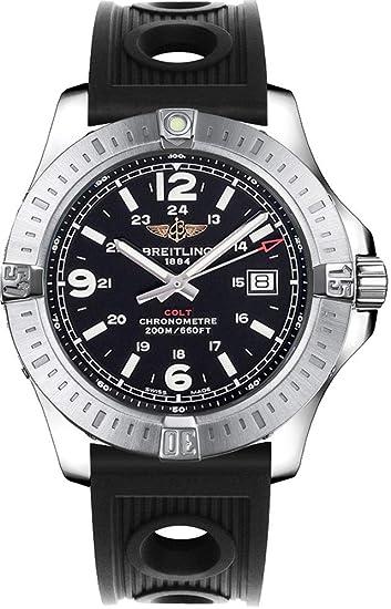 Breitling Colt sobre océano negro Racer Reloj para hombre correa de caucho A7438811/BD45 –