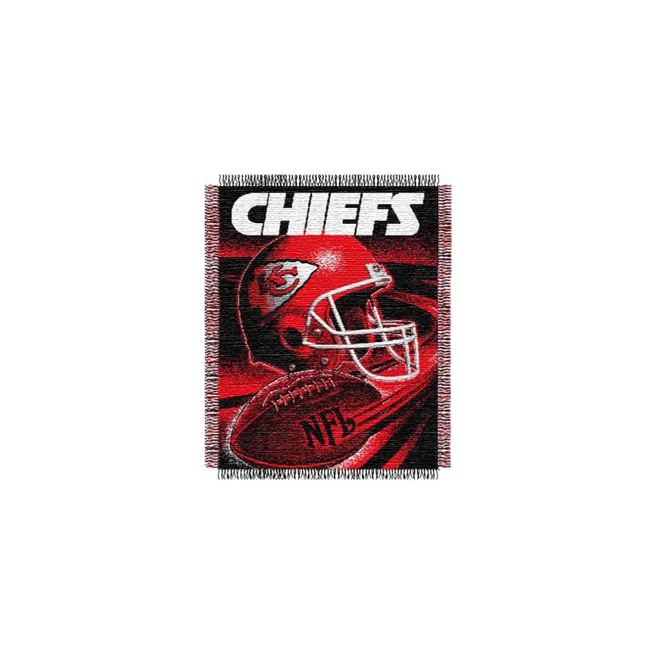 Kansas City Chiefs NFL Woven Jacquard Throw Sports