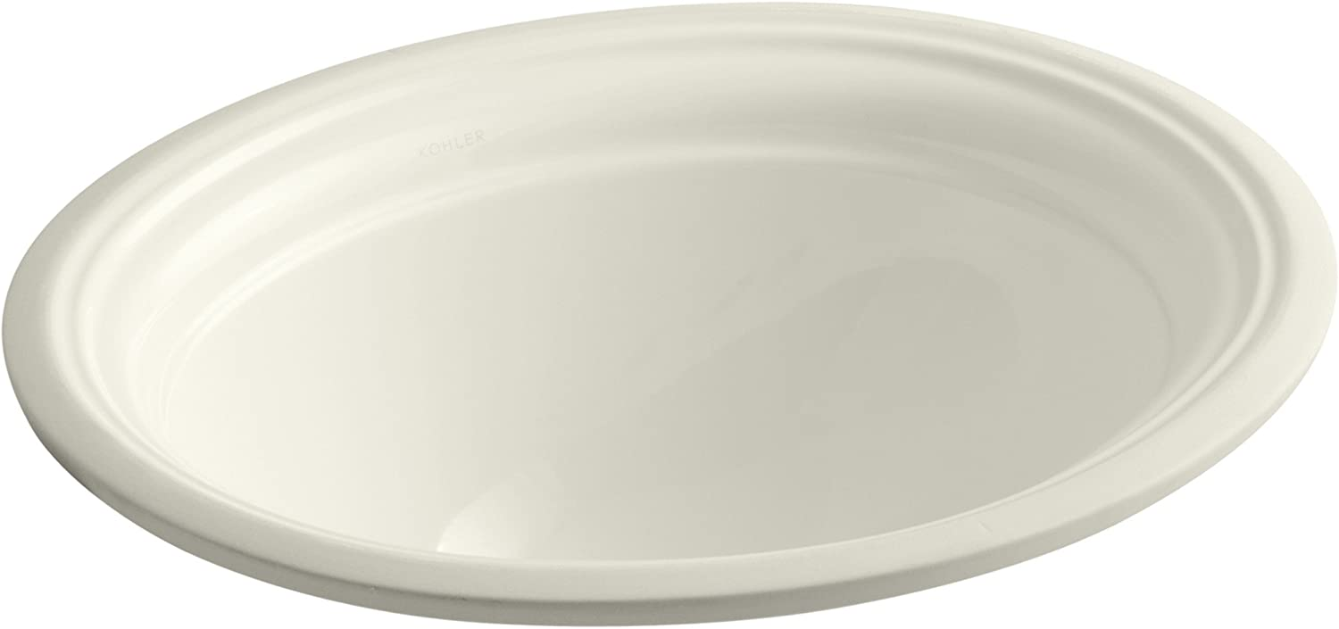 KOHLER K-2350-96 Devonshire Undercounter Bathroom Sink, Biscuit
