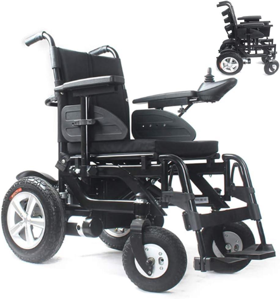 GJBHD Silla De Ruedas Eléctrica Inteligente Plegable De Alta Gama Refuerzo De Aleación De Aluminio Obeso Scooter Eléctrico Parapléjico para Discapacitados O De Mediana Edad