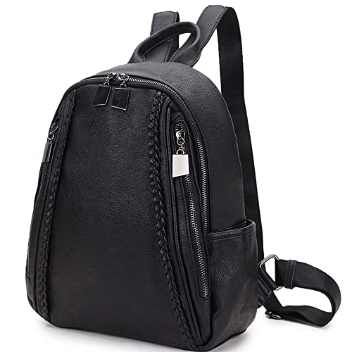 7a2a28d9f1 RAVUO Women Backpack Purse, Grain PU Leather and Nylon Ladies Rucksack  Small Casual Fashion Backpack for Girls: Amazon.ca: Shoes & Handbags
