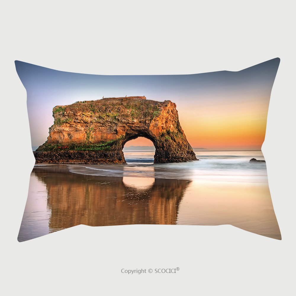 Custom Satin Pillowcase Protector Usa Santa Cruz Natural Bridges State Beach 101070745 Pillow Case Covers Decorative