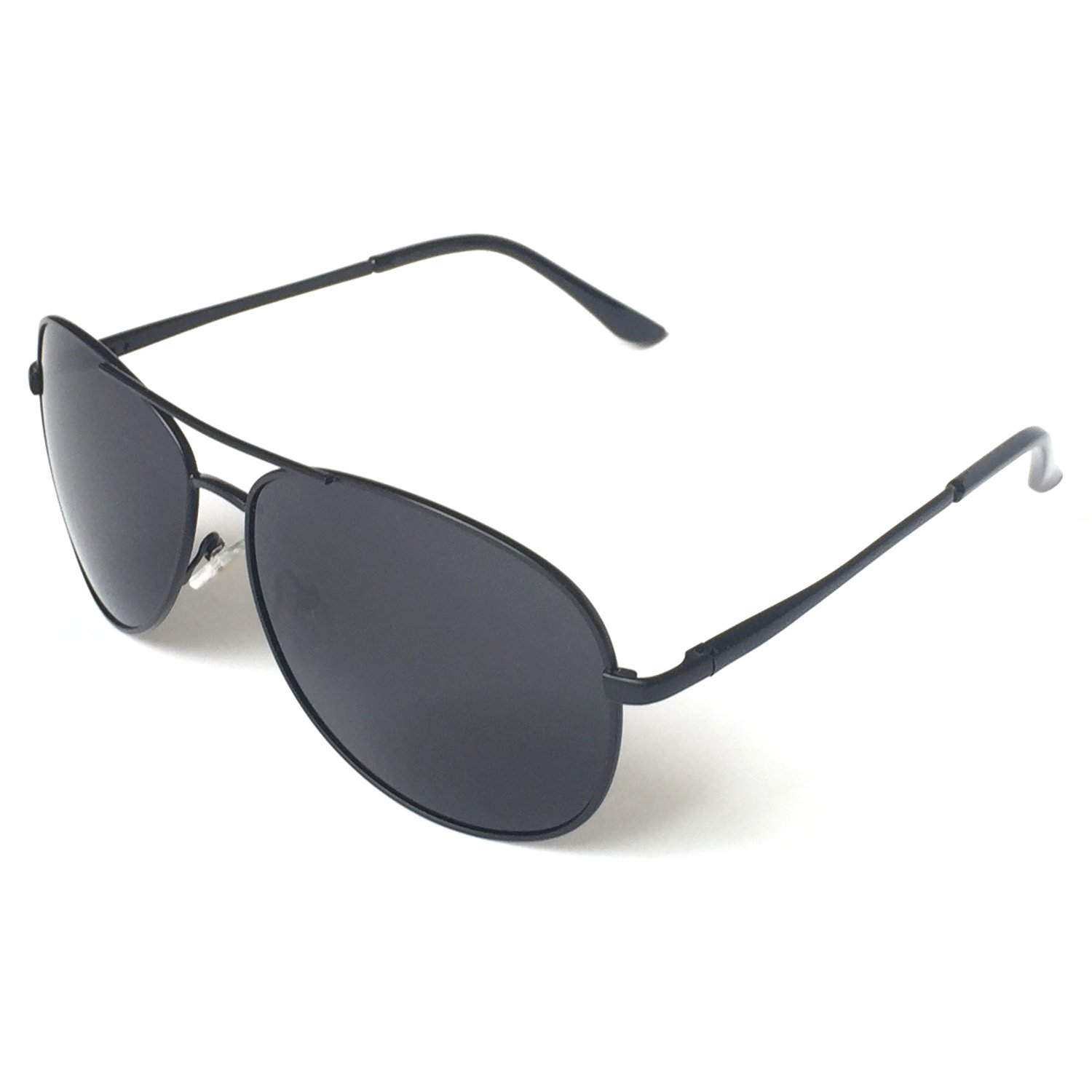 a23039f2e1748 Details about Military Style Sunglasses Classic Aviator Black Fashion  Designer UV protection