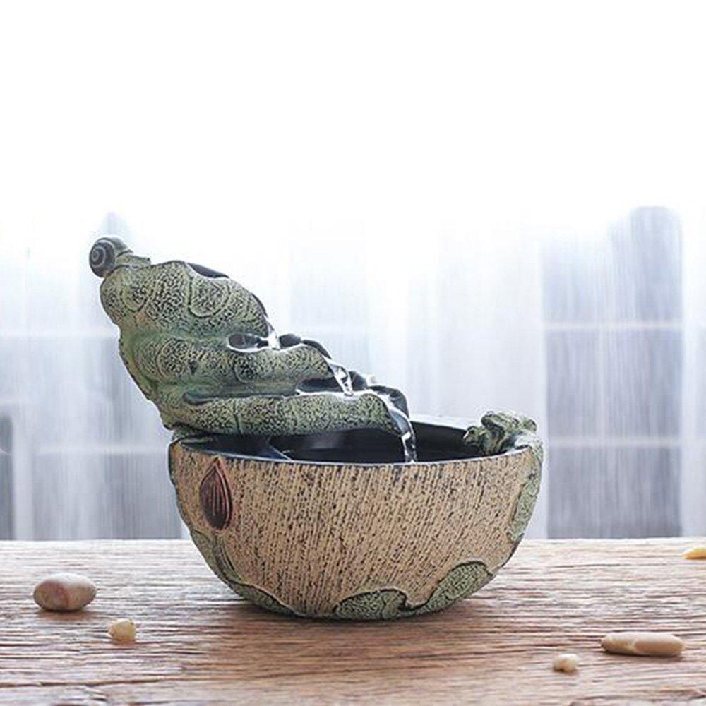 Decorazione artigianale - Resina sintetica Acqua di roccia Fontana Decorazione soggiorno ufficio Decorazioni per la casa - Migliore regalo (dimensioni   2217cm)
