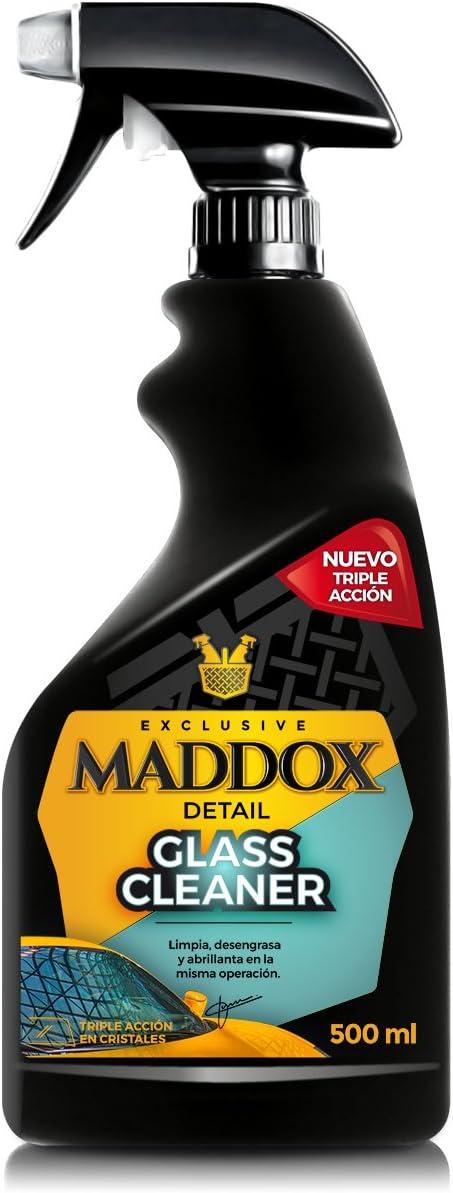 Maddox Detail - Glass Cleaner - Limpiacristales Triple Acción, Limpia, Desengrasa y Abrillanta (500ml)