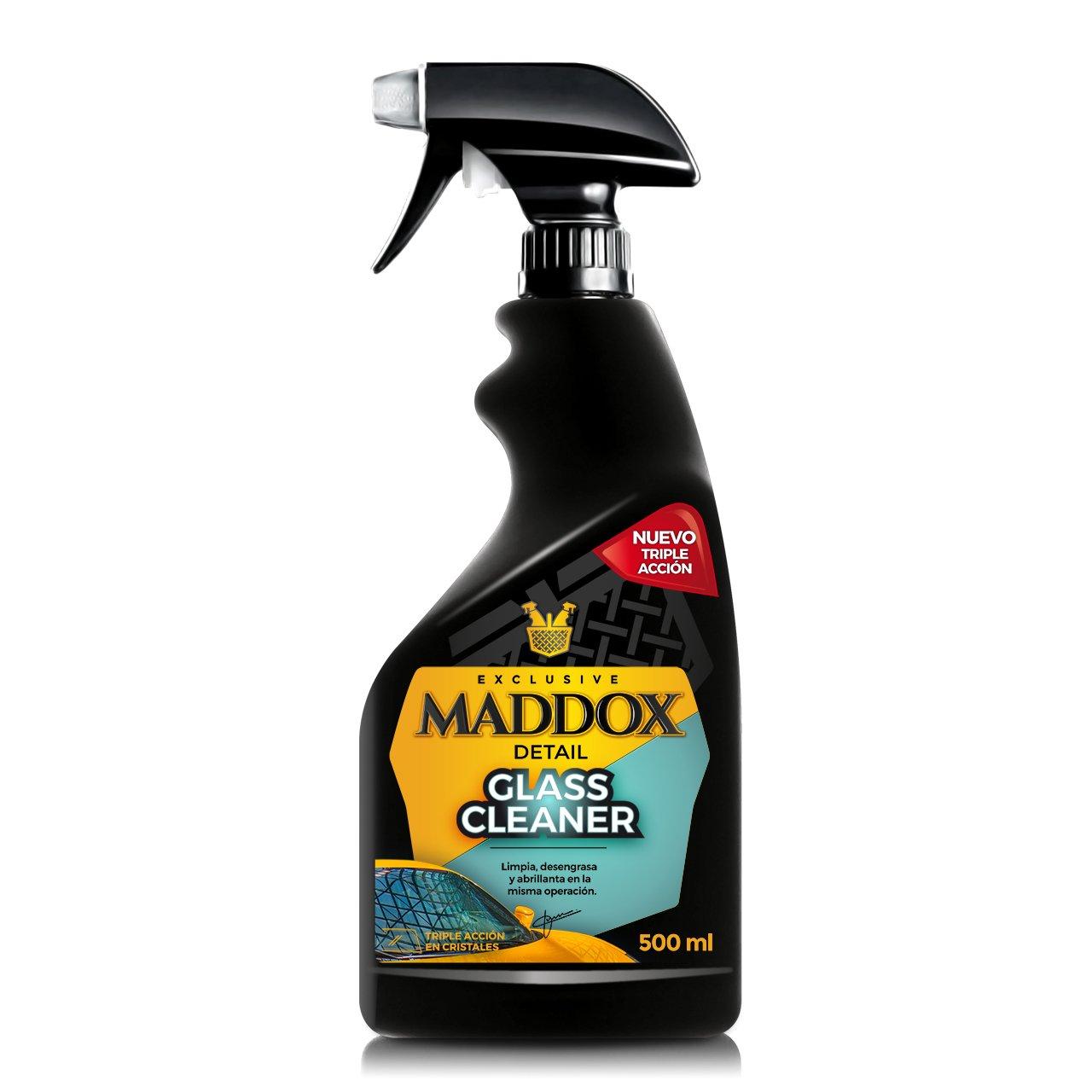 Maddox Detail 20101 Glass Cleaner-Limpiacristales Triple acció n, Limpia, desengrasa y abrillanta (500ml) Maddox Automoción SL