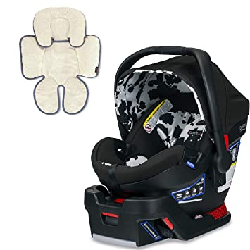 Britax B Safe Ultra Infant Car Seat Cowmooflage With Support Pillow Bundle