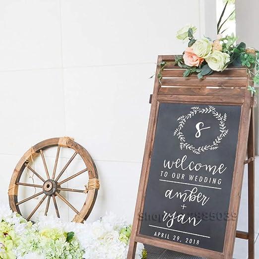 Elegante boda cartel de bienvenida calcomanía decoración ...