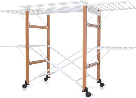 Foppapedretti Tendedero estructura impermeable en haya H 105 x p 80 x l 174 nogal Gulliver 420012: Amazon.es: Hogar