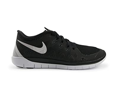 Nike Women s Free 5.0 Running Black White Anthracite Soccer Shoes - 5A ad26aa3fb