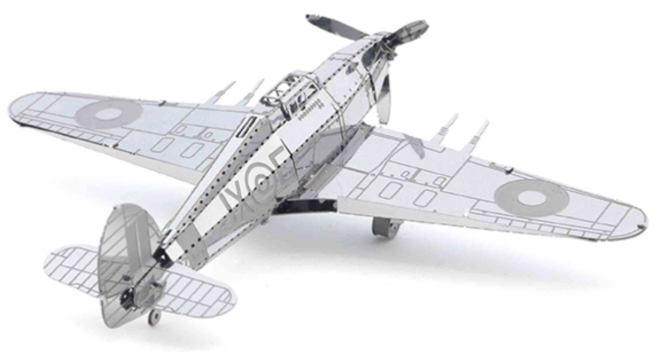 3D puzzle 3D Metal Puzzle Models Of Military Truck Hawker Hurricane Warplane 2 Pack DIY Toy Metal Sheets Assembling Puzzle