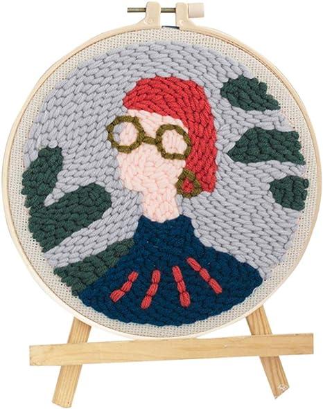 Punch Needle Embroidery Starter Kits Latch Hook Kits Rug Hooking Knitting Beginner Yarn Pattern Preprinted Santa