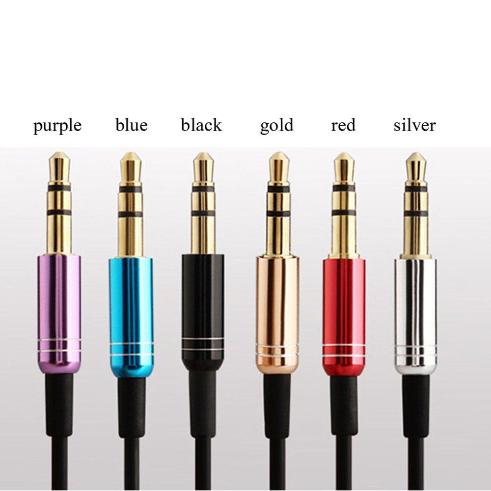 deeirao Headphone Splitter gloss-enameledアルミニウムハウジングステレオオーディオケーブル3.5 MMオスto 2 X 3.5 MMメスAux延長コード、Apple、SAMSUNG、スマートフォン、メディアプレーヤー DAQS3512  Alloy black B079KHT7LF