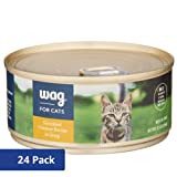 Amazon Brand - Wag Wet Cat Food, Shredded Chicken