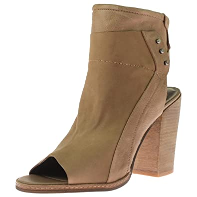 Womens V-Niki Open Back Open Toe Ankle Boots