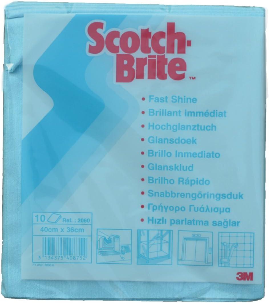 Scotch Brite 10 X Microfasertuch 2060 Blau 40x36cm Küche Haushalt