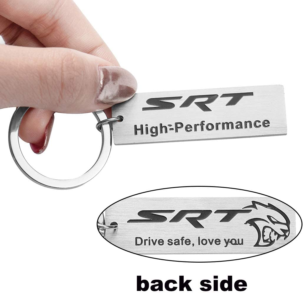 AMFRNE Special for SRT Stainless Steel Keychain SRT Accessories Idea and Collection for SRT Fans Lovers