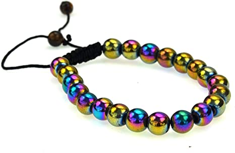0199 Rutilated Agate Hematite bracelet
