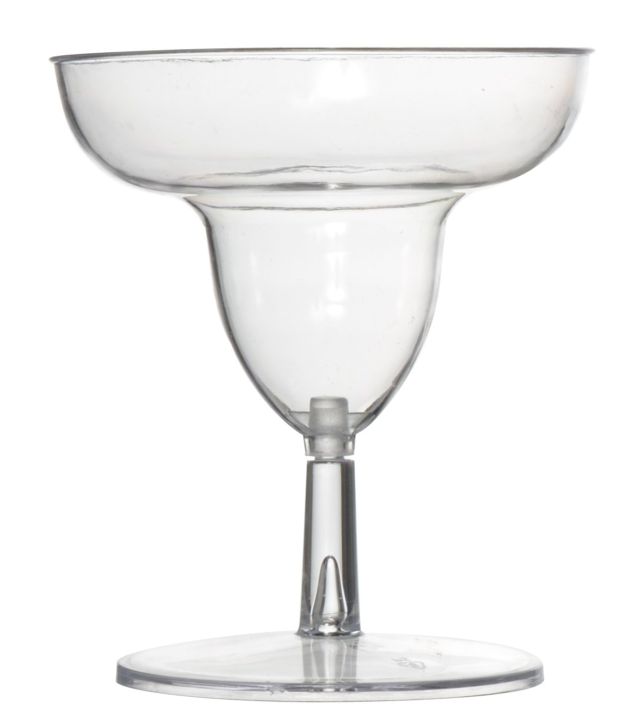 Fineline Settings Tiny Temptations Clear Two Piece 2 Oz. Tiny Toasts-Margarita Glass  120 Pieces by Tiny Temptations