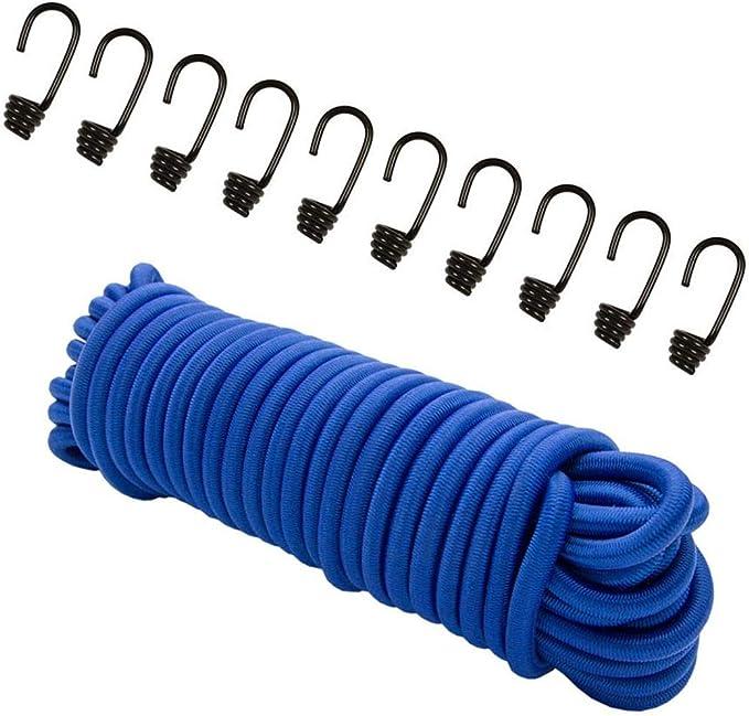 8mm Corde D/'Extension Vert 20m 10 Wuergeklemmen Plan de Collier Corde Élastique