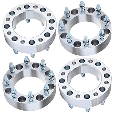 """ECCPP 4X 8x170mm Wheel Spacers 8 Lug 2"""" 8x170 to 8x170 125mm bore fits for Ford F-350 Ford F-250Super Duty 1999-2004 (14x2 Studs): Automotive"""