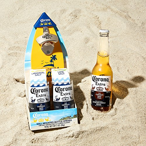 4b14b22d55d Corona Wall Mounted Bottle Opener Gift Set  A Surfboard Shaped ...