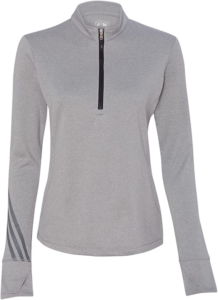 adidas A275 Golf Women's Brushed Terry Heather Quarter-Zip Jacket 61ChcosnODL