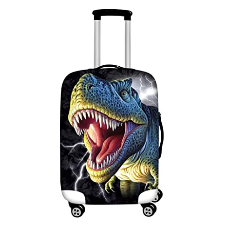 6d0bc4564646 HUGS IDEA Dinosaur Luggage Protector Suitcase Covers 18/20/22 Inch with  Zipper