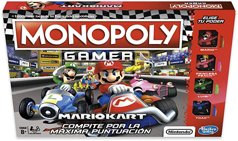 Monopoly- Gamer Mario Kart (Versión Española), Multicolor, única ...