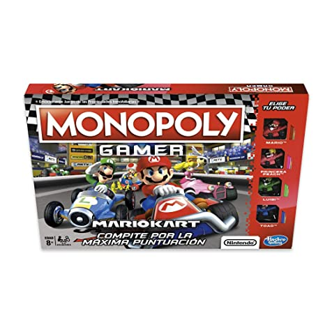 Amazon.com: Monopoly – Gamer Mario Kart, Multicoloured ...