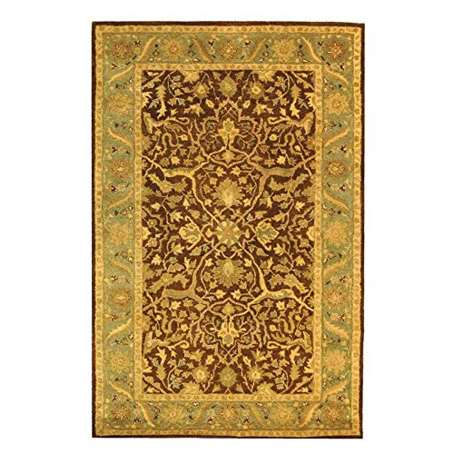 Amazon Com Traditional Rug Antiquity Wool Pile Brown