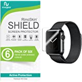 [6-Pack] RinoGear for Apple Watch Screen Protector 38mm (Series 3, 2, 1) iWatch Protection Flexible HD Crystal Clear Anti-Bubble Film