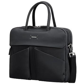 14.1inch Samsonite Lady Tech Organizer Bailhandle Messenger Bag Black 11.7 L