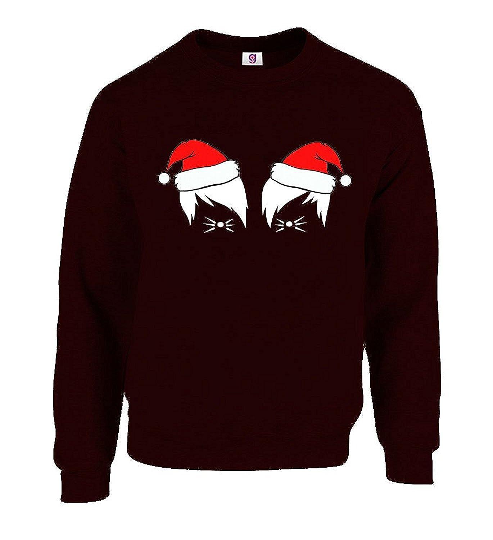 Dan And Phil Christmas Sweater.Graphic Impact Funny Dan And Phil Vlogger Cat Whiskers Santa