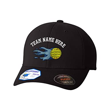 Flexfit Baseball Cap Water Polo Sports C Embroidery Team Name Polyester Hat Elastic - Black,