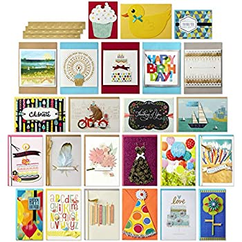 Amazon paper magic all occasion handmade greeting card hallmark all occasion handmade boxed greeting card assortment pack of 24birthday baby wedding sympathy thinking of you thank you blank m4hsunfo