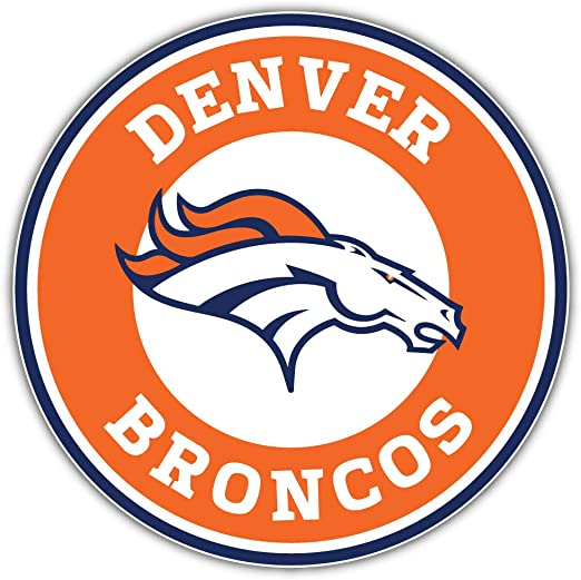 qualityprint Denver Broncos NFL Sport Decor Bumper Vinyl Sticker 14 X 9
