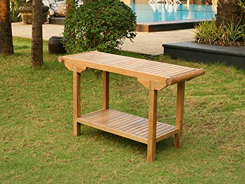 Tortuga Outdoor Indonesian Teak Console Table