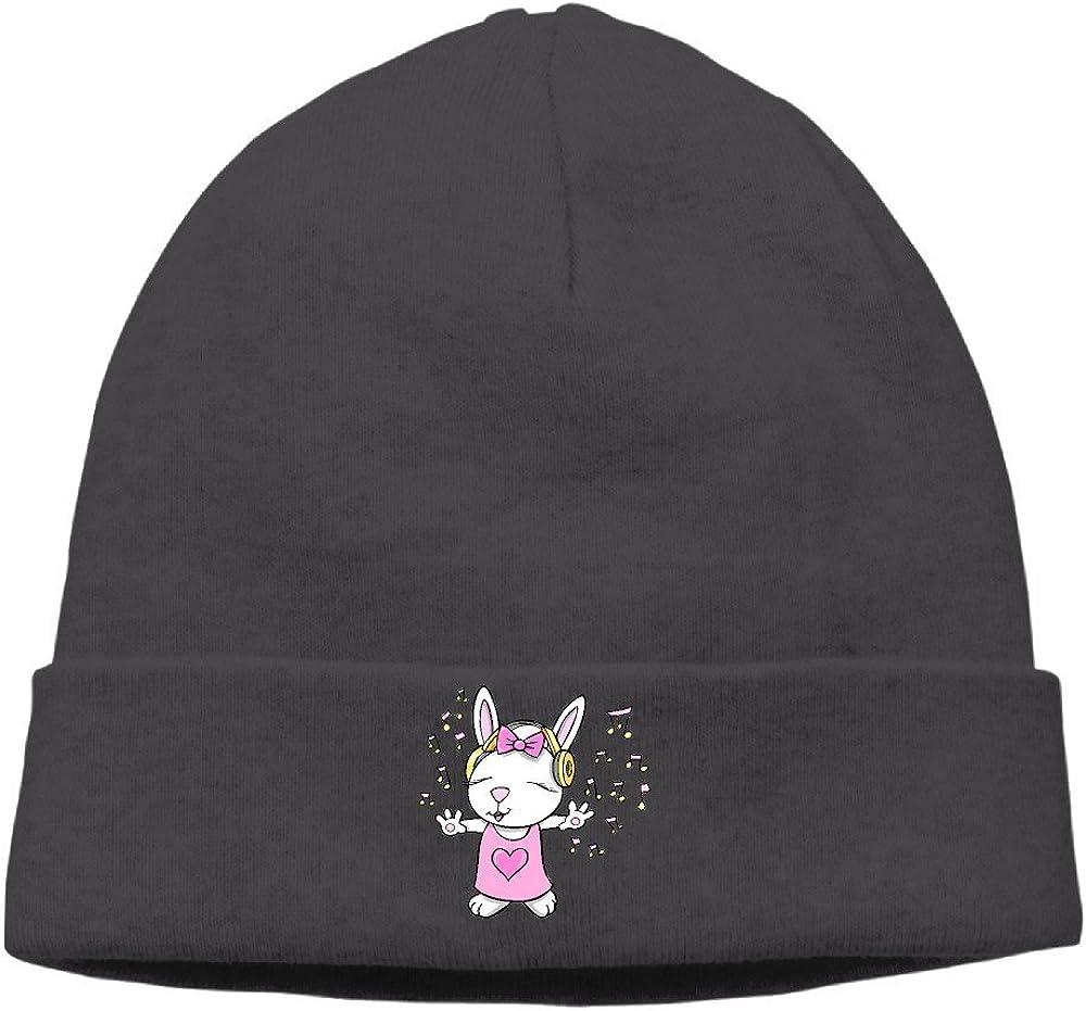 Pilipala Rabbit Love Music Cute Bunny Style Slouchy Beanies Hat Caps