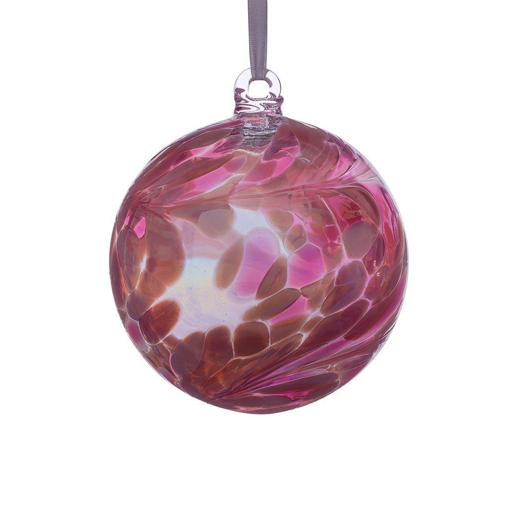 Sienna Glass October Birthstone Friendship Ball, Pink Tourmaline BB10OCT