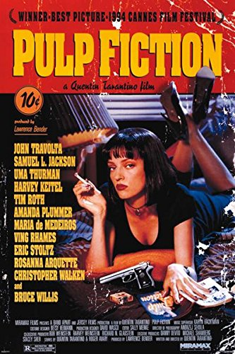 Pulp Fiction Movie One Sheet Uma Thurman Poster, 24 by 36-In