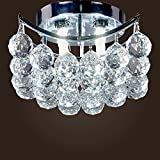Museum Light Modern Beautiful Crystal Chandelier Flush Mount Light Lighting Fixture 4 LightsCA-4010/X-4L W8 Silver