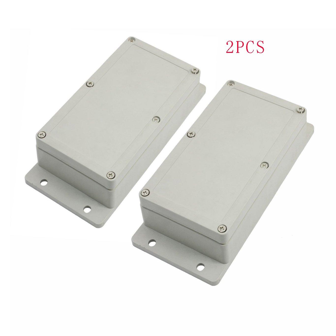 Saim ABS Plastic Waterproof Electronic Project DIY Junction Box Enclosure Case 158mmx90mmx46mm 2Pcs