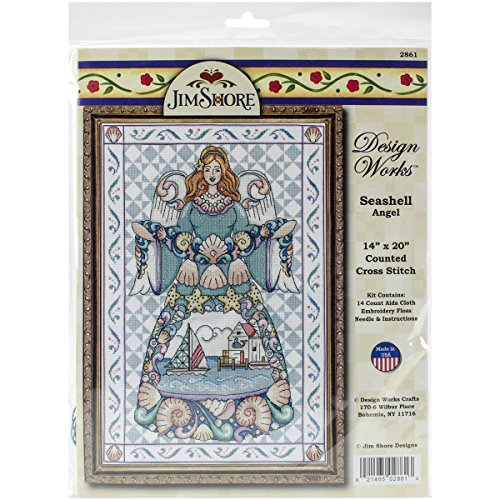 Tobin DW2861 14 Count Seashell Angel Counted Cross Stitch Ki