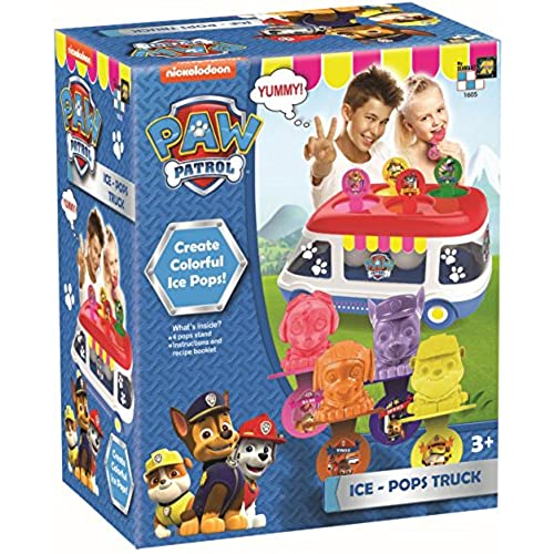 AMAV Paw Patrol Ice-Pops Truck Machine Kit for Kids - DIY Toy Make Your Own Paw Patrol Ice-Pops with Your Favorite Characters! free shipping