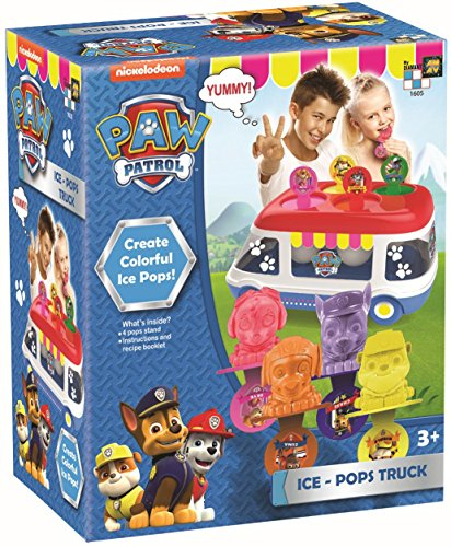 Toy Ice (AMAV Paw Patrol Ice-Pops Truck Machine Kit for Kids - DIY Toy Make Your Own Paw Patrol Ice-Pops with Your Favorite Characters!)
