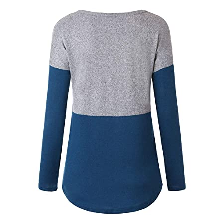 Amazon.com: YKARITIANNA Women Casual O-Neck Pockets Long Sleeve Splice Sweat Casual T-Shirt Blouses Top: Arts, Crafts & Sewing