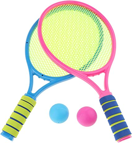 Amazon.com: Tennis Set for Kids with 2 Rackets and 2 Balls - Junior Tennis  Racquet Play Game Beach Toys: Toys & Games